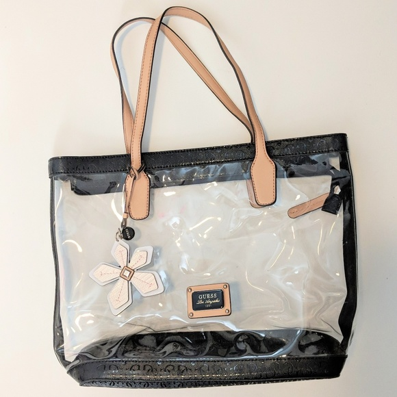 298d01b6d60a Guess Handbags - GUESS Los Angeles Large Clear Tote